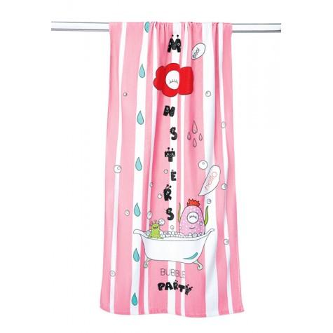 Полотенце банное махровое «Monsters» Faberlic цвет Розовый
