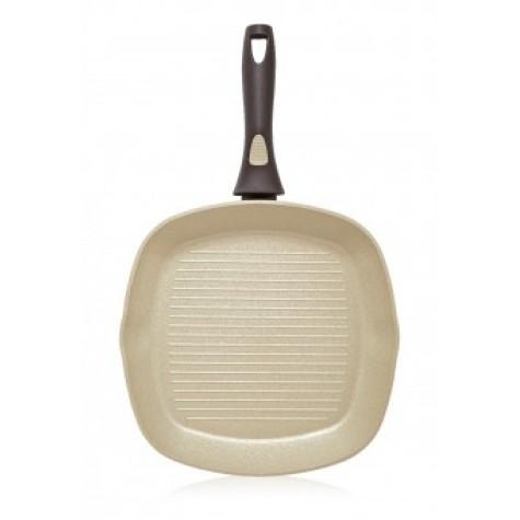Сковорода-гриль с антипригарным покрытием Faberlic цвет Оливковый, 28см