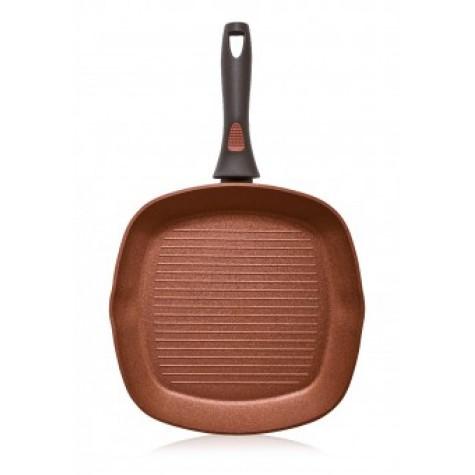 Сковорода-гриль с антипригарным покрытием Faberlic цвет Терракотовый, 28см