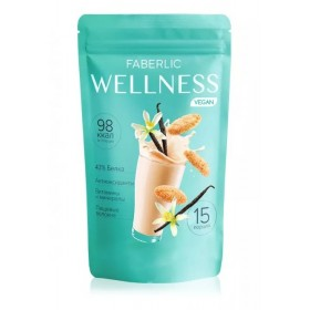 Протеиновый коктейль для веганов «Wellness» со вкусом ванильное печенье