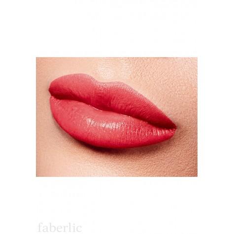 Полуматовая губная помада «Бархатный сезон» Faberlic тон Модный коралловый