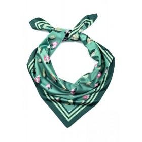 Платок сатиновый Faberlic цвет мультипринт Листья