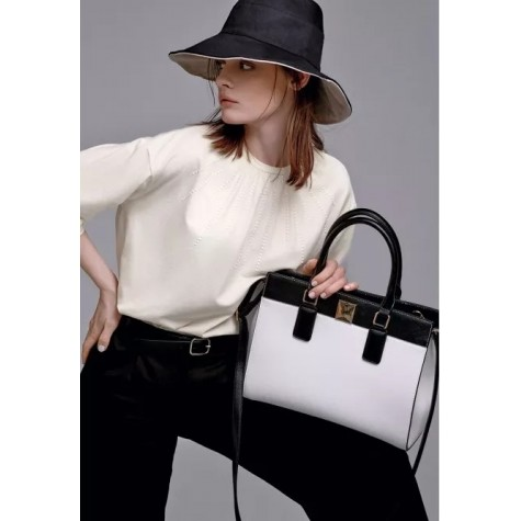 Сумка женская «Виолетта» Faberlic цвет Белый-черный