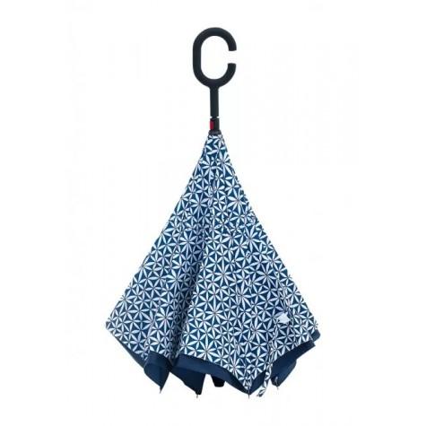 Зонт-трость реверсивный Faberlic цвет Сине-белый