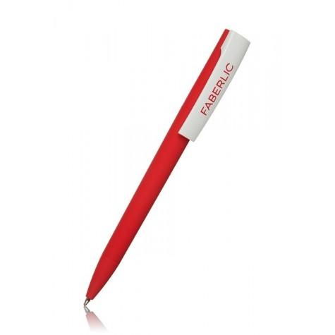 Ручка шариковая ZETA Soft Красная