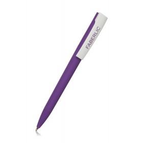 Ручка шариковая ZETA Soft фиолетовая