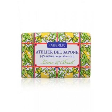 Мыло натуральное кусковое «Лайм и базилик» Faberlic