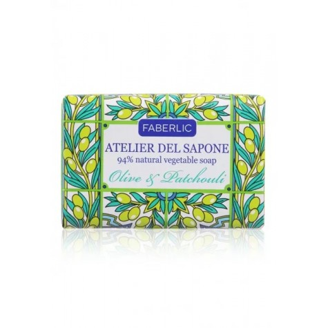 Мыло натуральное кусковое «Олива и пачули» Faberlic