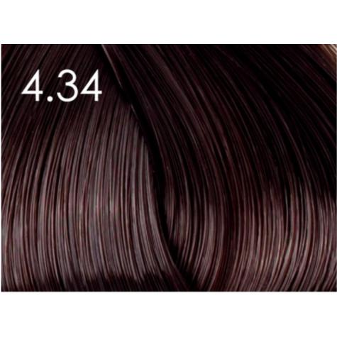 Стойкая крем-краска для волос «Шелковое окрашивание» без аммиака Faberlic тон Медно-коричневый 4.34