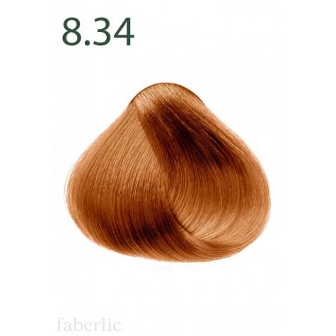 Стойкая питательная крем-краска для волос «Botanica» Faberlic тон Осенний лес 8.34