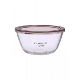 Миска из термостойкого стекла с крышкой Faberlic, 1,5 л