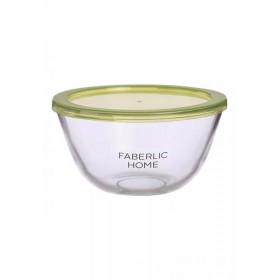 Миска из термостойкого стекла с крышкой Faberlic, 1 л