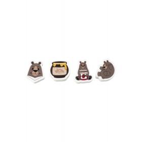 Набор ластиков «Малиновые мишки» Lovely moments